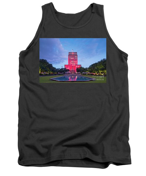 Early Dawn Architectural Photograph Of Houston City Hall And Hermann Square - Downtown Houston Texas Tank Top