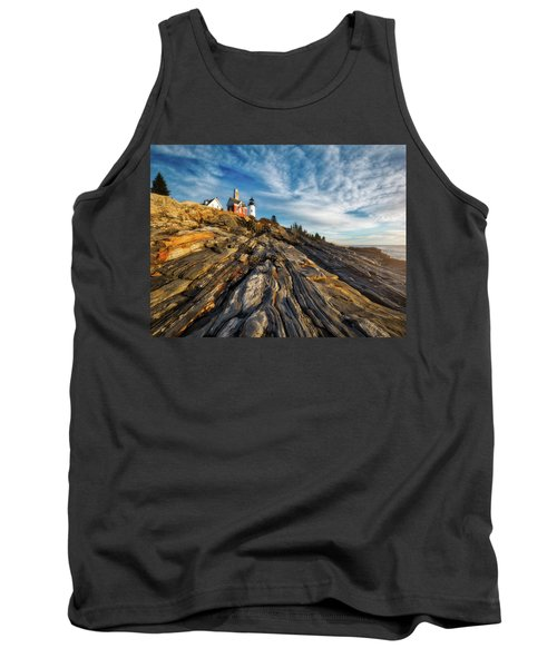 Tank Top featuring the photograph Early Morning At Pemaquid Point by Darren White