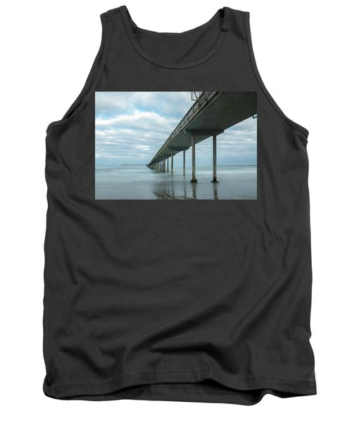 Early Morning By The Ocean Beach Pier Tank Top