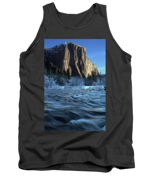 Early Morning Light On El Capitan During Winter At Yosemite National Park Tank Top