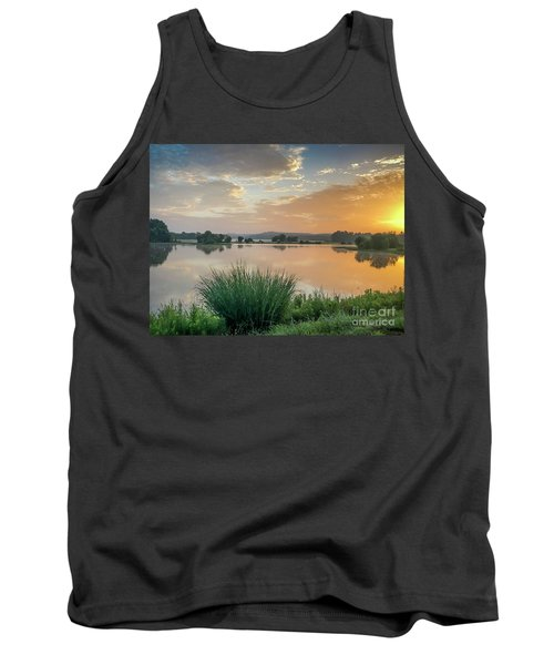 Early Morning Sunrise On The Lake Tank Top