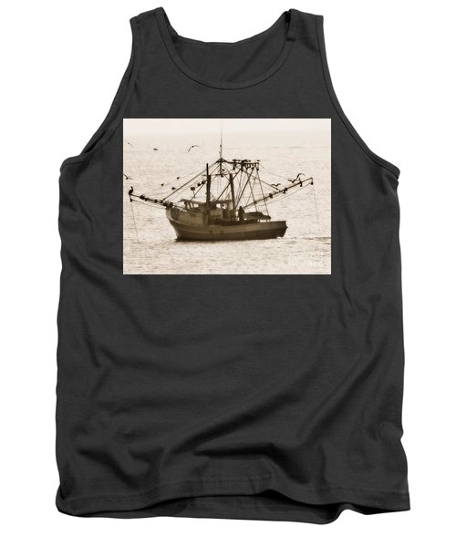 Early Morning Trawling  Tank Top by Christy Ricafrente