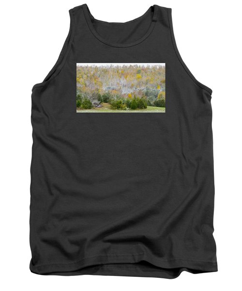Tank Top featuring the photograph Early Snow Fall by Wanda Krack