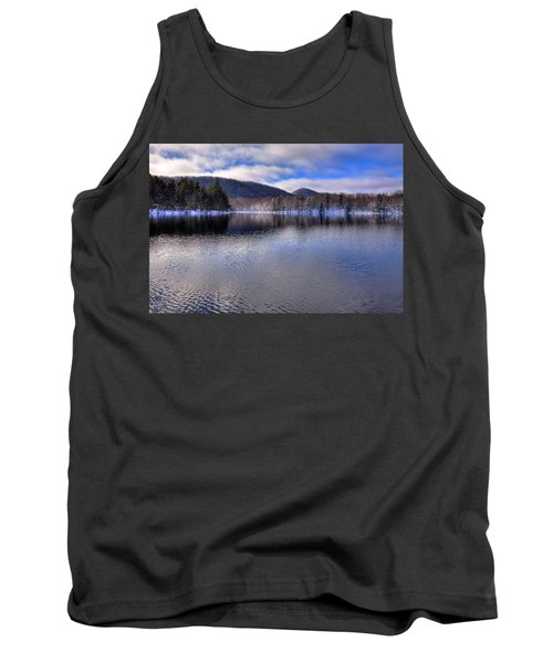 Early Snow On West Lake Tank Top by David Patterson