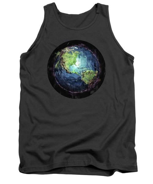 Earth And Space Tank Top by Phil Perkins