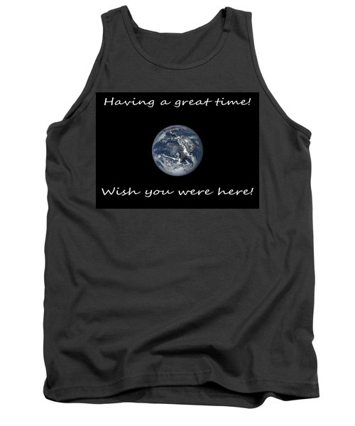 Earth Wish You Were Here Horizontal Tank Top