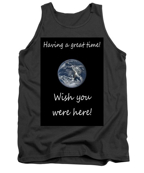 Earth Wish You Were Here Vertical Tank Top
