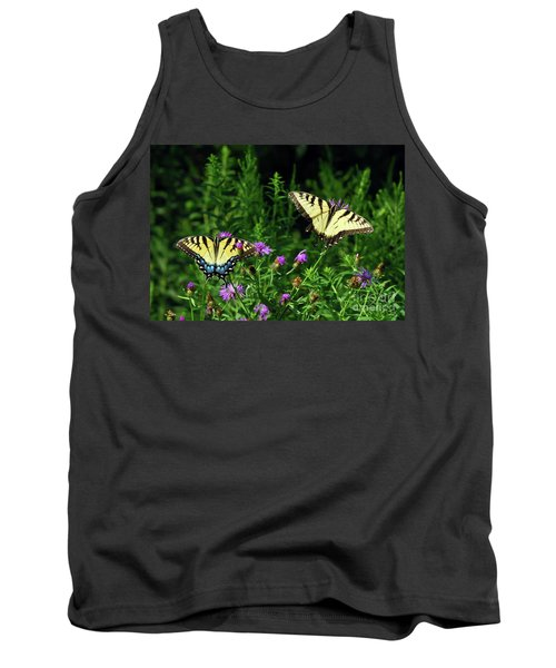 Tank Top featuring the photograph Eastern Tiger Swallowtail Butterfly - Female And Male  by Kerri Farley