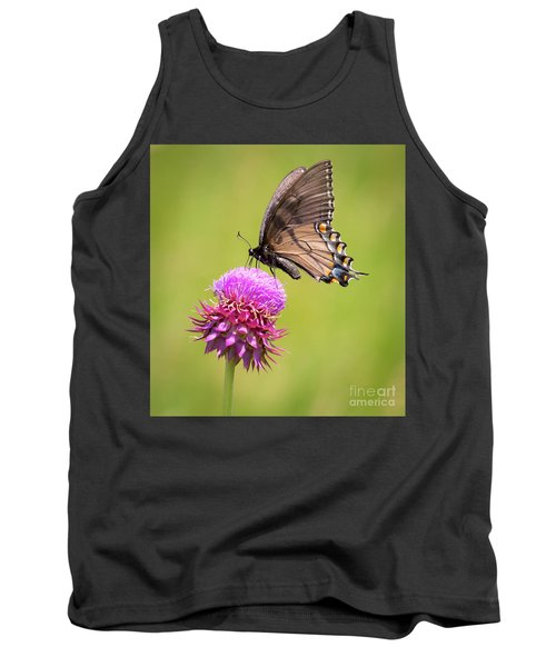 Tank Top featuring the photograph Eastern Tiger Swallowtail Dark Form  by Ricky L Jones