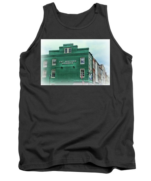 Tank Top featuring the photograph Eat Berthas Mussels  by Paul Ward