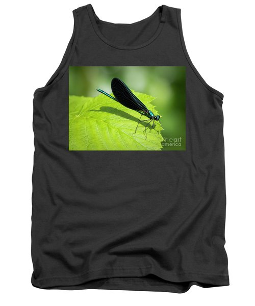 Tank Top featuring the photograph Ebony Jewelwing by Ricky L Jones