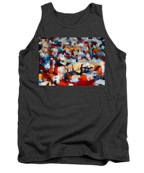 Tank Top featuring the digital art Echoes Of Civilization  by Shelli Fitzpatrick