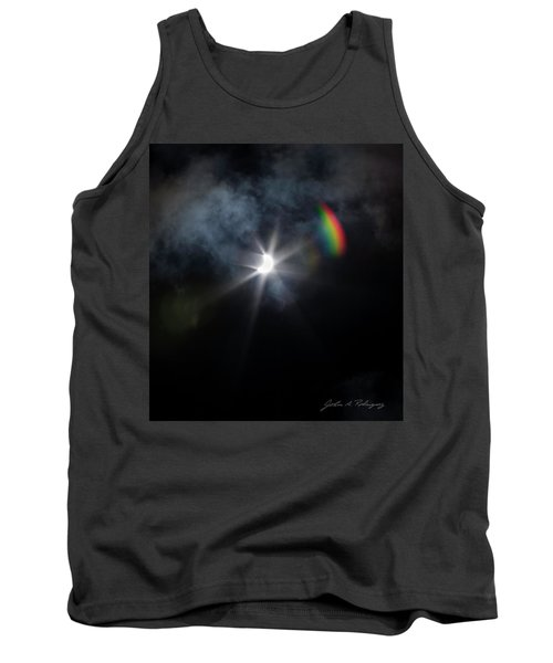 Solar Eclipse 2017 And Rainbow Tank Top