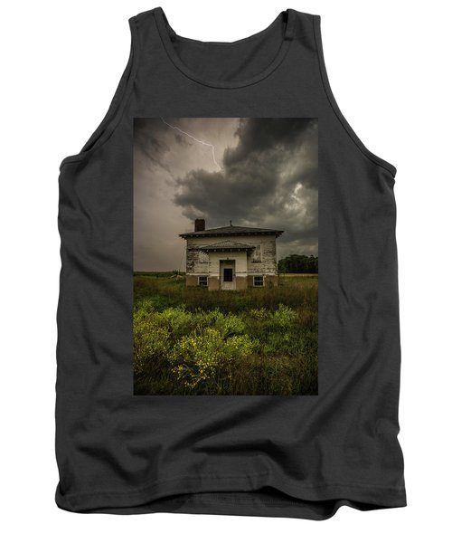 Tank Top featuring the photograph Eclipse Apocalypse by Aaron J Groen