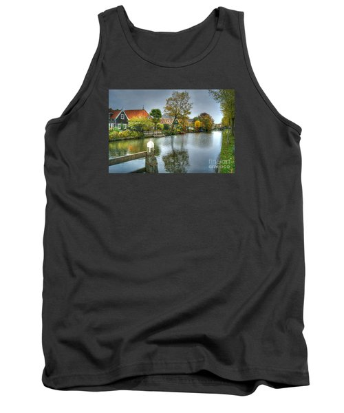 Edam Waterway In Holland Tank Top