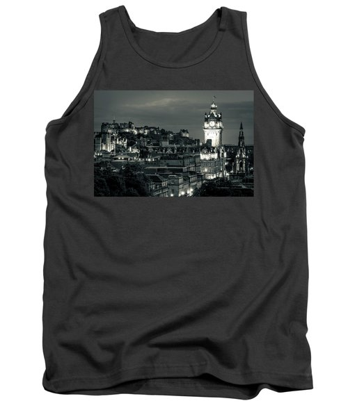 Edinburgh In Black And White Tank Top