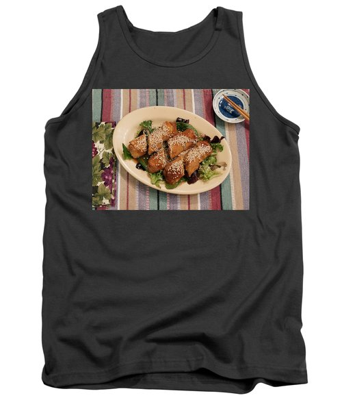 Egg Rolls And Sesame Tank Top by Jana Russon