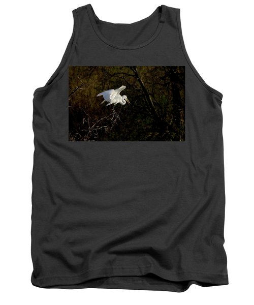 Tank Top featuring the photograph Egret by Kelly Marquardt