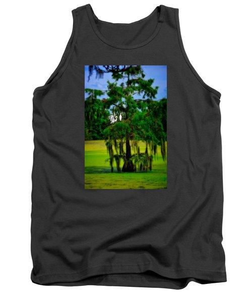 Egret Tree Tank Top