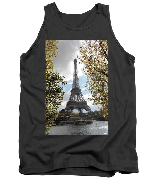 Tank Top featuring the photograph Eiffel From Avenue De New York by Christopher Kirby