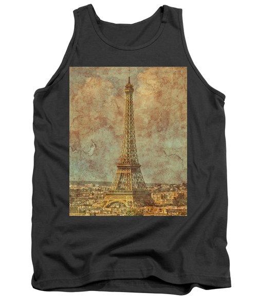 Paris, France - Eiffel Tower Tank Top