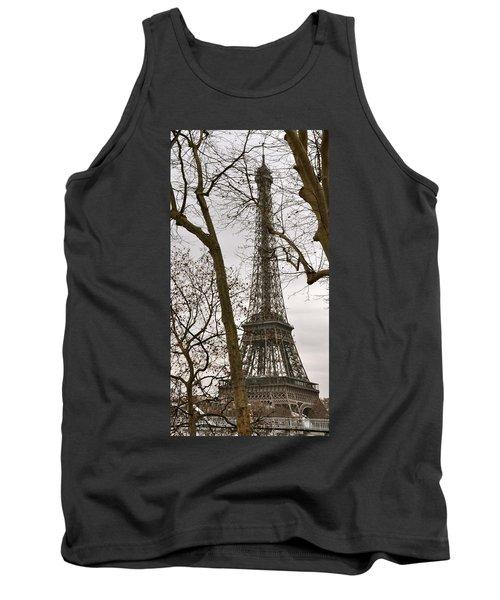 Eiffel Tower Through Branches Tank Top