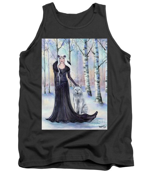 Eindride Nordi Goddess With Wolf Tank Top