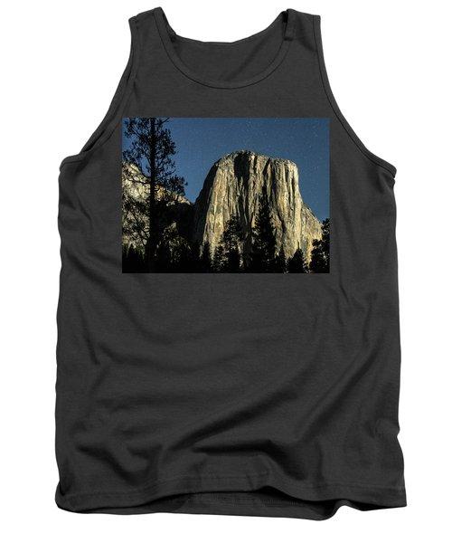 El Capitan By Starlight, Yosemite Valley, Yosemite Np, Ca Tank Top