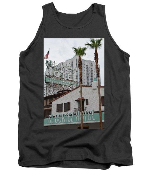 Tank Top featuring the photograph El Cortez Hotel Las Vegas by Kyle Hanson