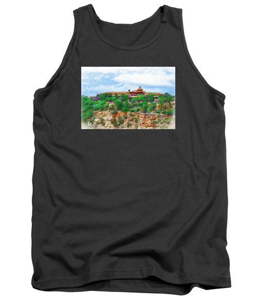 El Tovar At The Grand Canyon Tank Top by Kirt Tisdale
