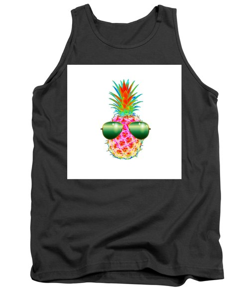 Electric Pineapple With Shades Tank Top