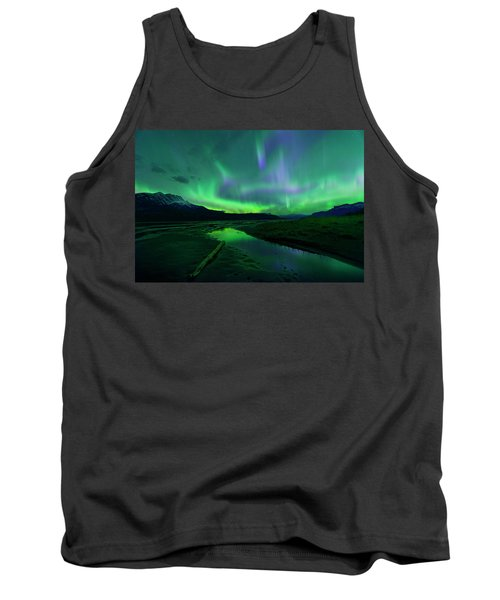 Electric Skies Over Jasper National Park Tank Top