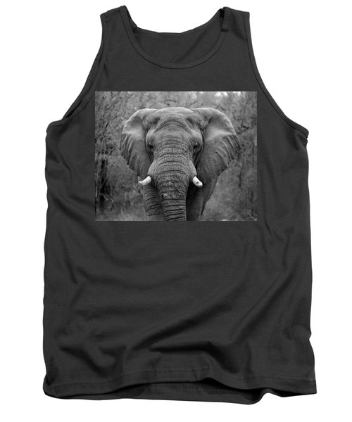 Elephant Eyes - Black And White Tank Top