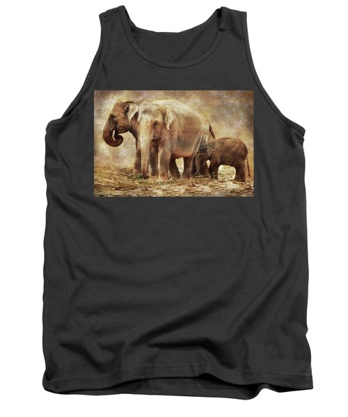 Elephant Family Tank Top