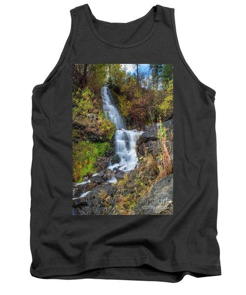 Elk Creek Waterfall Waterscape Art By Kaylyn Franks Tank Top
