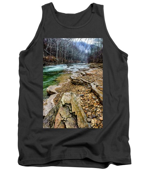 Tank Top featuring the photograph Elk River In The Rain by Thomas R Fletcher