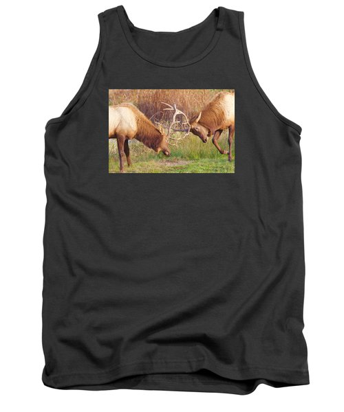 Tank Top featuring the photograph Elk Tussle Too by Todd Kreuter