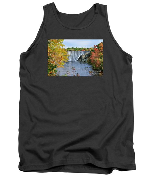 Tank Top featuring the photograph Ellsworth, Maine Dam by Debbie Stahre