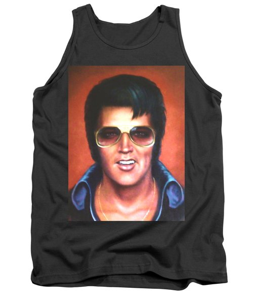 Tank Top featuring the painting Elvis Presley by Loxi Sibley