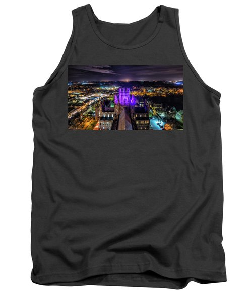 Tank Top featuring the photograph Ely Cathedral In Purple by James Billings