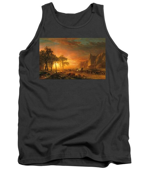 Tank Top featuring the photograph Emigrants Crossing The Plains - 1867 by Albert Bierstadt