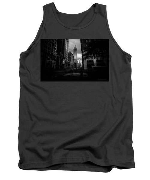 Tank Top featuring the photograph Empire State Building Bw by Marvin Spates