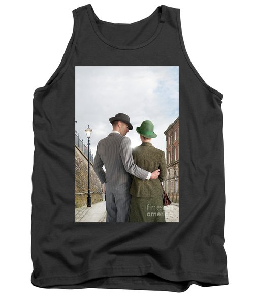 Empty Street With Victorian Buildings Tank Top