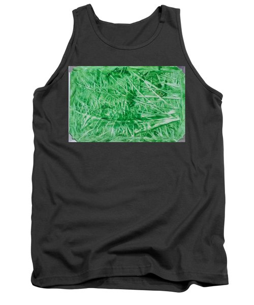 Encaustic Abstract Green Foliage Tank Top