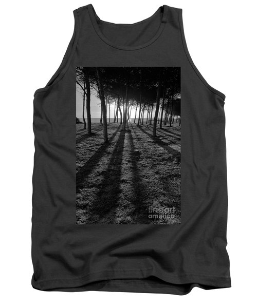 Enchanted Sunset In Monochrome Tank Top by Angelo DeVal