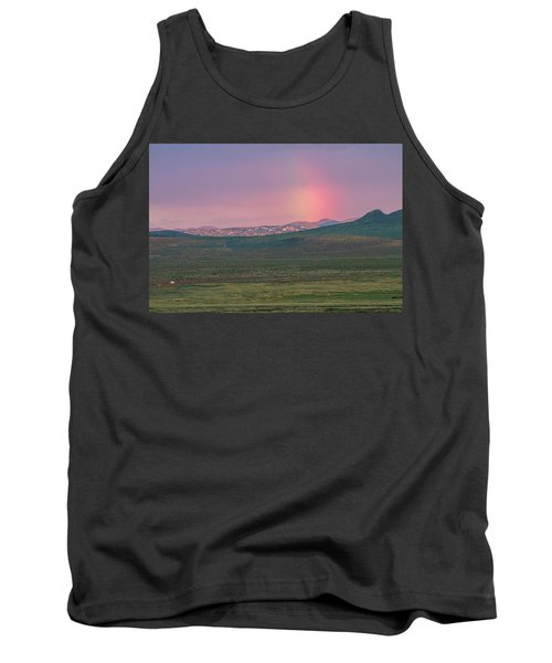 Tank Top featuring the photograph End Of Rainbow by Hitendra SINKAR
