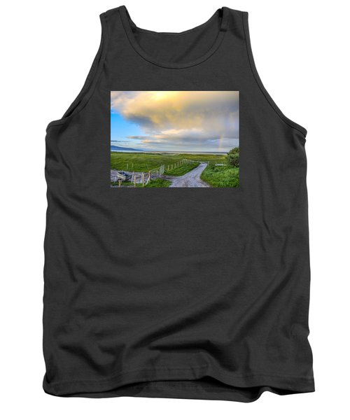 Tank Top featuring the photograph End Of The Road, Brora, Scotland by Sally Ross