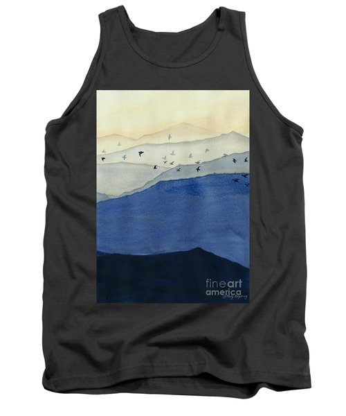 Endless Mountains Right Panel Tank Top