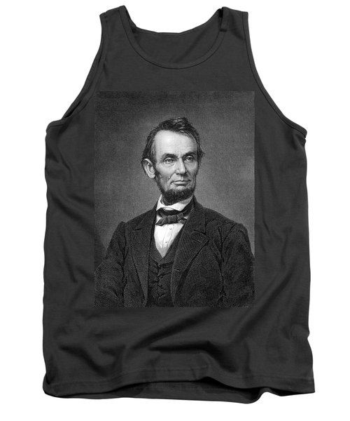 Engraving Of Portrait Of Abraham Lincoln From Brady Photograph Tank Top by Phil Cardamone