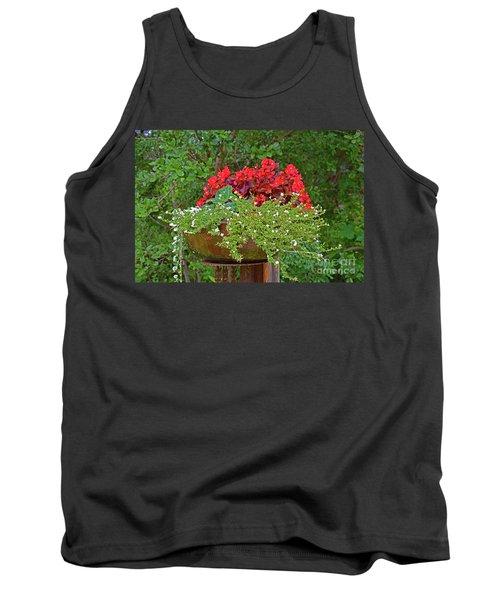 Enjoy The Garden Tank Top by Ray Shrewsberry